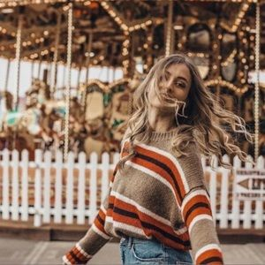 Urban Outfitters Striped Boyfriend Sweater Small